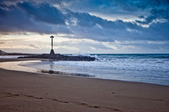 Tenerife beach 2. Los Christianos beach in Tenerife Stock Photos