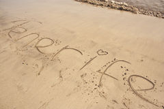Tenerife beach stock image