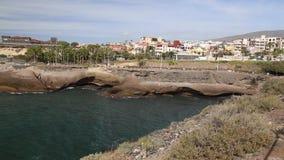 Tenerife beach coast Atlantic ocean Las Americas video stock video