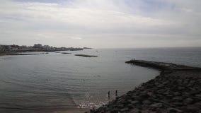 Tenerife beach coast Atlantic ocean Las Americas video stock video footage