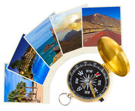 Tenerife Canary images and compass Royalty Free Stock Images
