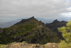 Tenerife cloudy mountain  Royalty Free Stock Photography