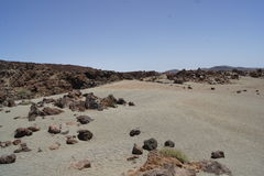 Tenerife Canary Islands teide moon mars Stock Image