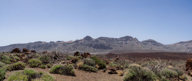 Tenerife Canary Islands teide moon mars Royalty Free Stock Image