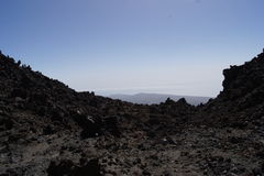 Tenerife Canary Islands teide moon mars Royalty Free Stock Photo
