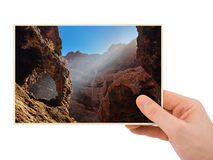 Tenerife Canary photography in hand Royalty Free Stock Photo