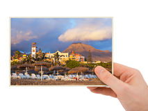 Tenerife Canary photography in hand Royalty Free Stock Images