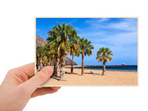 Tenerife Canary photography in hand Royalty Free Stock Image