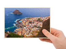 Tenerife Canary photography in hand Stock Photos