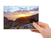 Tenerife Canary photography in hand Stock Images