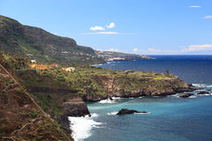 Tenerife - coast ine landscape Royalty Free Stock Images