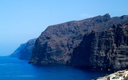 Tenerife coast Los Gigantes Stock Photography