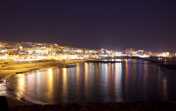 Tenerife coast in the night. Canaries islands Stock Photography