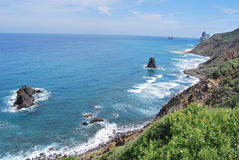 Tenerife, coastline of Anaga Stock Image