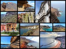 Tenerife collage Royalty Free Stock Photo