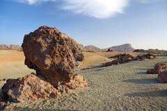 Tenerife desert landscape. Stock Photos