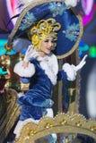 TENERIFE, EL 24 DE ENERO: Caracteres y grupos en el carnaval Foto de archivo libre de regalías