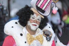 TENERIFE, EL 28 DE FEBRERO: Caracteres y grupos en el carnaval Foto de archivo