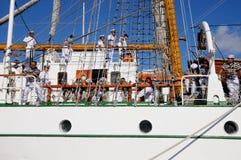 TENERIFE, EL 13 DE SEPTIEMBRE: La nave de escuela mexicana atracó en el puerto o Foto de archivo libre de regalías