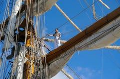 TENERIFE, EL 13 DE SEPTIEMBRE: La nave de escuela mexicana atracó en el puerto o Fotos de archivo