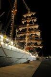 TENERIFE, EL 13 DE SEPTIEMBRE: La nave de escuela mexicana atracó en el puerto o Fotos de archivo libres de regalías
