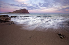 Tenerife El Medano strand Royaltyfri Foto