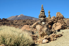 Tenerife - El Teide (cairn) Royalty Free Stock Photos