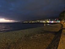 Tenerife en la noche Fotografía de archivo libre de regalías
