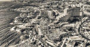 TENERIFE, ESPANHA - 7 DE SETEMBRO DE 2016: Vista aérea de Las Americas Foto de Stock