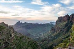 Tenerife evening landscape royalty free stock images