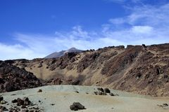 tenerife för el-bergteide vulkan Arkivbilder