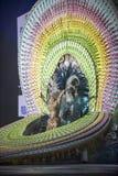 TENERIFE FEBRUARI 3: Stor stor fest av valet för drottningen av carnen Arkivfoton