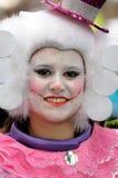 TENERIFE, 17 FEBRUARI: Carnaval-Groep en gekostumeerde karakters Royalty-vrije Stock Foto