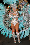 TENERIFE, 17 FEBRUARI: Carnaval-Groep en gekostumeerde karakters Royalty-vrije Stock Fotografie