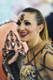 TENERIFE, 13 FEBRUARI: Karakters en groepen in Carnaval Stock Afbeeldingen
