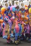 TENERIFE FEBRUARI 17: Karnevalgrupper och kostymerade tecken Royaltyfri Fotografi