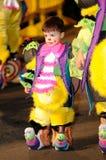 TENERIFE FEBRUARI 17: Karnevalgrupper och kostymerade tecken Royaltyfria Bilder