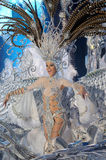 TENERIFE, FEBRUARY 6: The Carnival Queen Soraya Rodriguez Castro Royalty Free Stock Photography