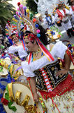 TENERIFE, FEBRUARY 17: Carnival groups and costumed characters Royalty Free Stock Photo