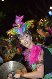 TENERIFE, FEBRUARY 17: Carnival groups and costumed characters Stock Images