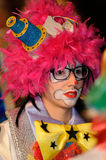 TENERIFE, FEBRUARY 17: Carnival groups and costumed characters Stock Photos