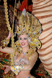 TENERIFE, FEBRUARY 17: Carnival groups and costumed characters Royalty Free Stock Photography