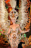 TENERIFE, FEBRUARY 17: Carnival groups and costumed characters Stock Photography