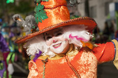 TENERIFE, FEBRUARY 25: Characters and groups in the carnival Stock Images