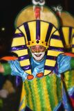 TENERIFE, FEBRUARY 10: Characters and Groups in The Carnival Royalty Free Stock Image