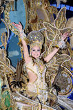 TENERIFE, FEBRUARY 11: Great choice for the Queen of Carnival Royalty Free Stock Photography