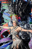 TENERIFE, FEBRUARY 11: Great choice for the Queen of Carnival Stock Images