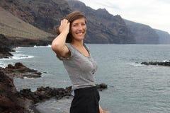 Tenerife female tourist Stock Photo