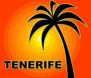 Tenerife Holiday Represents Go On Leave And Heat Stock Photography