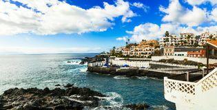 Tenerife holidays - pictorial Puerto di Santiago, Canary island Stock Photos